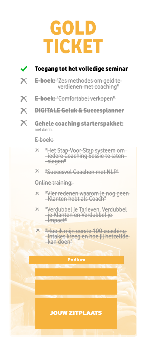 Gold Ticket Seminar Sluis NLP Instituut